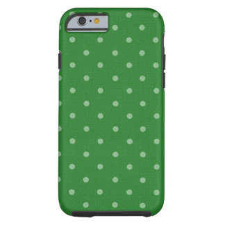 Retro grüner Tupfen Tough iPhone 6 Hülle