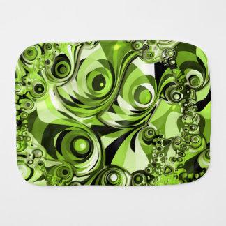 Retro grünes abstraktes spucktuch