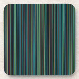 Retro Grünstreifen-Set des blauen Brauns des Aqua Untersetzer
