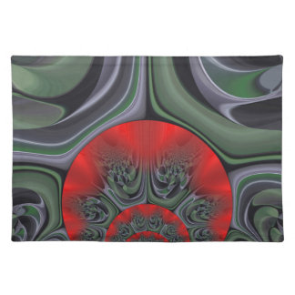 Retro Hakuna Matata Geschenkflora Ring des Feuers Tischset