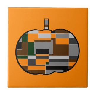 Retro Halloween-Kürbis abstrakt Fliese