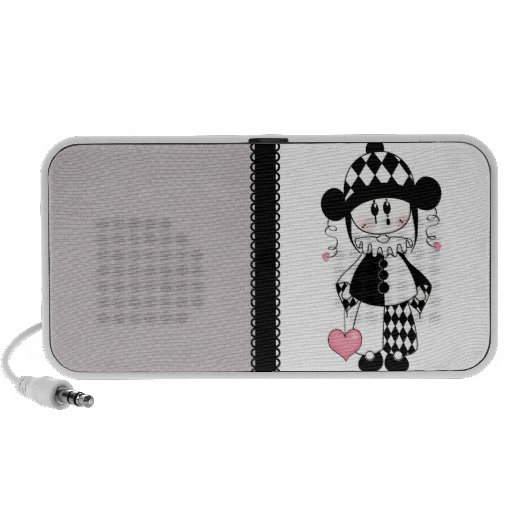 Retro Harlekin-Clown iPod Speaker