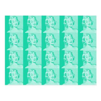 Retro Hausfrau Postkarte