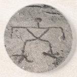 Retro hawaiische Petroglyphe - Vintage Untersetzer