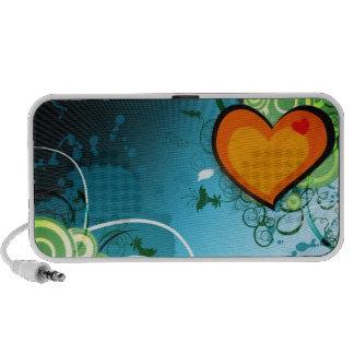 Retro Herz Tragbare Lautsprecher