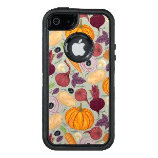 Retro Hintergrund vom Frischgemüse OtterBox iPhone 5/5s/SE Hülle