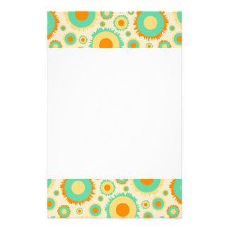 Retro Hippie-Punkte in Orange, in Grünem u. TAN Individuelles Druckpapier