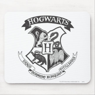 Retro Hogwarts Wappen Harry Potter | Mousepad