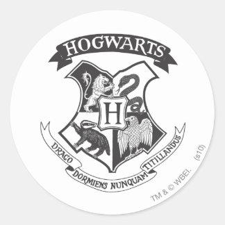 Retro Hogwarts Wappen Harry Potter | Runder Aufkleber