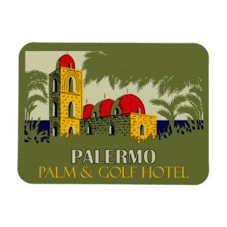 Retro Hotel-Reiseanzeige Palermos Sizilien Magnet