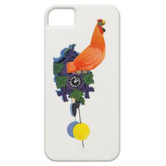 Retro Huhn Gurren-Gurren Uhr-Hahn-Zeit Vintag iPhone 5 Hüllen