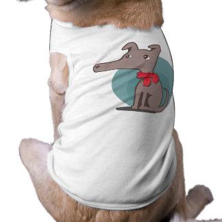 Retro Hund mit einem roten Schal Shirt