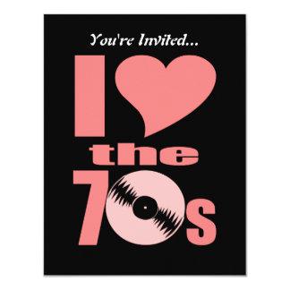 Retro i-Liebe die Party-Vinylaufzeichnung Karte