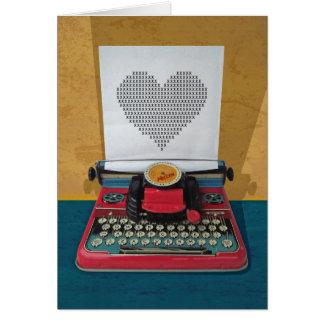 Retro I.T. 50er Vintage Spielzeug-Schreibmaschine Karte