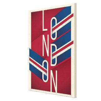Retro illustrierte Typografie Londons, England | Leinwanddruck