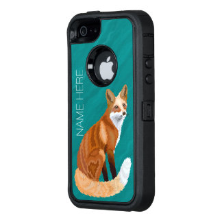 Retro iphoneSE Art Zpersonifizieren rotes Fox OtterBox iPhone 5/5s/SE Hülle