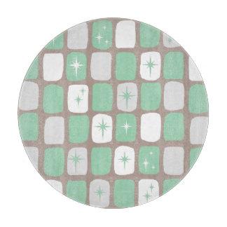 Retro Jade-Sternexplosion-Glasschneiden-Brett Schneidebrett