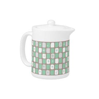 Retro Jade-Sternexplosion-kleine Teekanne
