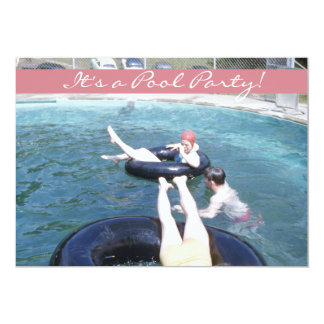 Retro Jahr-Swimmingpool-Party-Vintager Badeanzug Karte