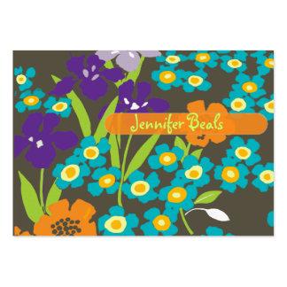 Retro japanische Iris Jumbo-Visitenkarten