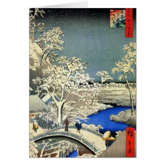 Retro japanische Weihnachtskarten für die Grußkarte