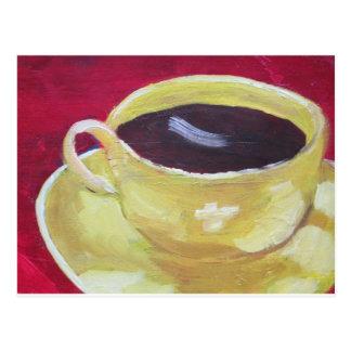 Retro Kaffeetasse Postkarte
