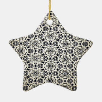 Retro kaleidoskopisches Muster Keramik Stern-Ornament