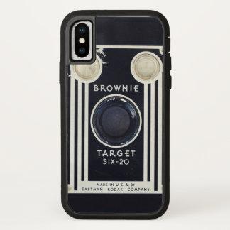 Retro Kameraschokoladenkuchenziel iPhone X Hülle