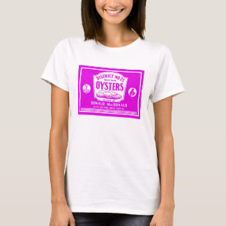 Retro Kap-bretonischer Austern-Aufkleber-T - Shirt