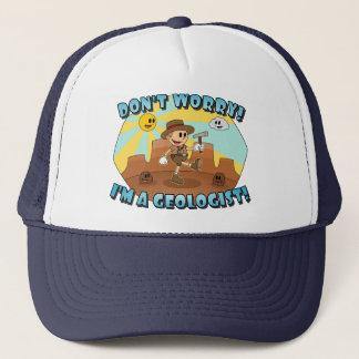 Retro Karikatur sorgen sich nicht! Ich bin ein Truckerkappe