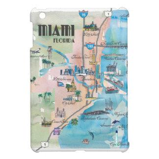 Retro Karte Miamis Florida iPad Mini Hülle