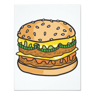 Retro Käsehamburger Karte