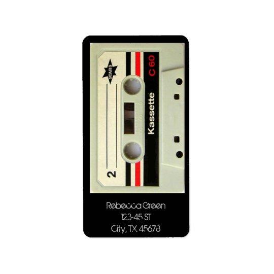 Retro Kassette Geeky nerdy Achtzigerjahre Kassette Adressaufkleber