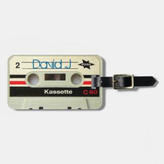 Retro Kassette Geeky nerdy Achtzigerjahre Kassette Kofferanhänger