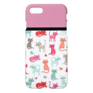 Retro Katzen-Liebhaber iPhone 7 Fall iPhone 8/7 Hülle
