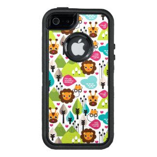 Retro Kindersafari-Löwewild lebende tiere OtterBox iPhone 5/5s/SE Hülle