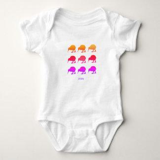 Retro Kiwis Aotearoa Neuseeland Baby Strampler