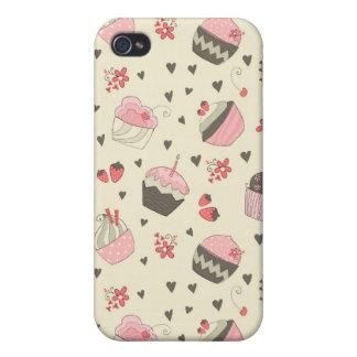 Retro kleine Kuchen iPhone 4/4S Cover