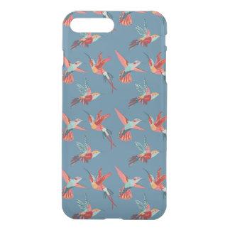Retro Kolibri-Muster iPhone 8 Plus/7 Plus Hülle