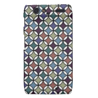 Retro Circle Pattern in Gorgeous Rustic Colors Motorola Droid RAZR Cover
