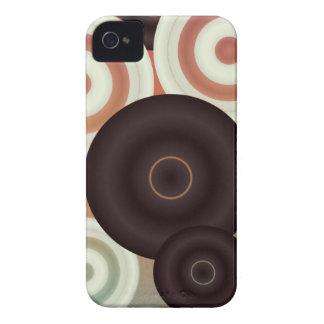 Retro Kreis-Muster iPhone 4 Cover