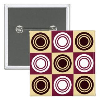 Retro Kreis-Muster-Knopf Anstecknadel