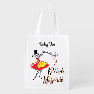 Retro Küchen-Magier-Gewohnheits-Einkaufstüte Wiederverwendbare Einkaufstasche