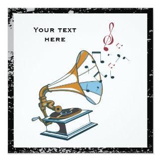 Retro kundenspezifische Einladung des Grammophons