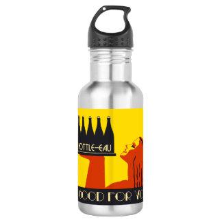 retro Kunst-Deko der Art Flasche-Eau Trinkflasche
