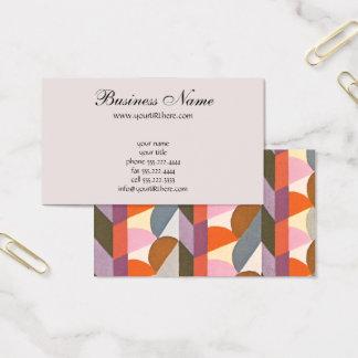 Retro Kunst-Deko-Jazz-Pastellfarbform-Muster Visitenkarte