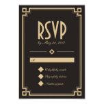 Retro Kunst-Deko-Rahmen-dunkle Hochzeit UAWG Karte Individuelle Einladungskarte