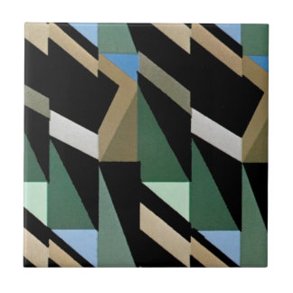 Retro Kunst-Deko-Vintage Diamant-Dreieck-Muster Fliese