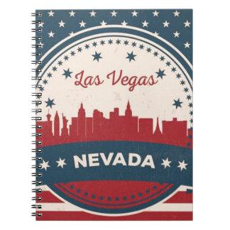 Retro Las Vegas-Skyline Notizblock
