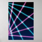Retro Laserstrahlschulporträt-Foto-Hintergrund Poster